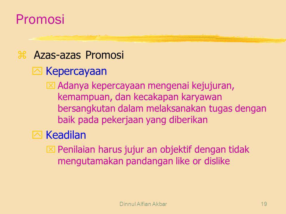 Promosi Azas-azas Promosi Kepercayaan Keadilan