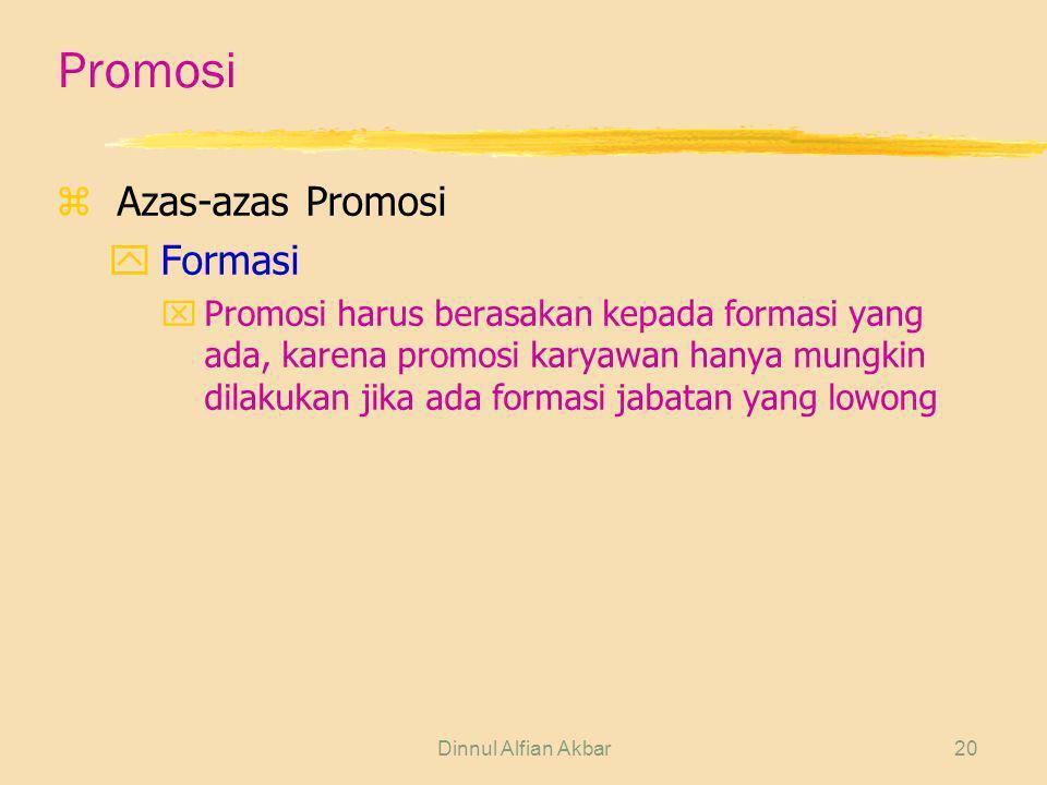 Promosi Azas-azas Promosi Formasi