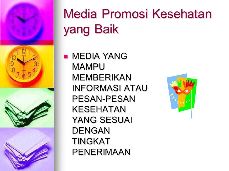 Media Promosi Kesehatan yang Baik