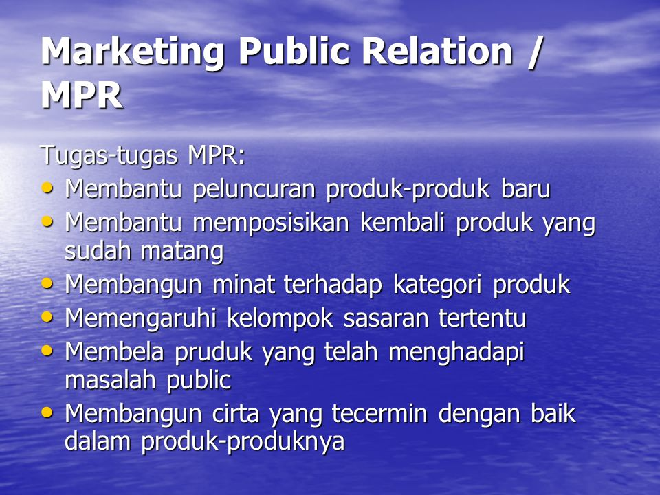 Marketing Public Relation / MPR