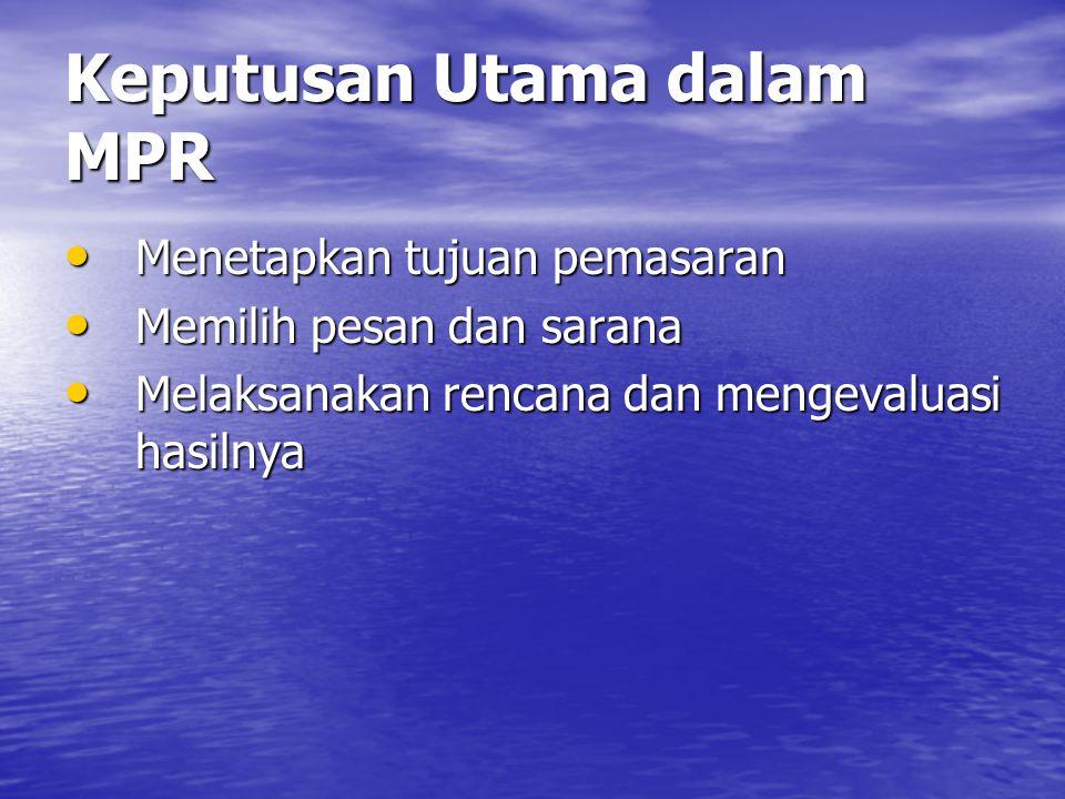 Keputusan Utama dalam MPR