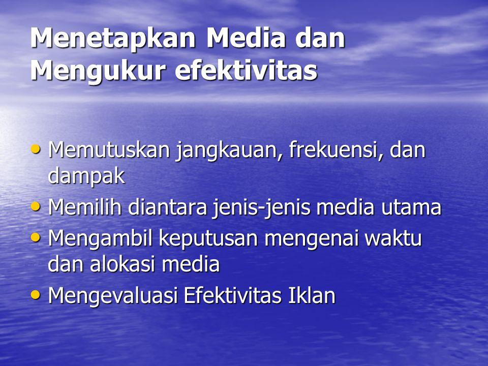 Menetapkan Media dan Mengukur efektivitas