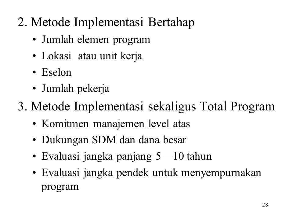 2. Metode Implementasi Bertahap