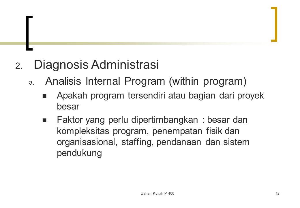 Diagnosis Administrasi