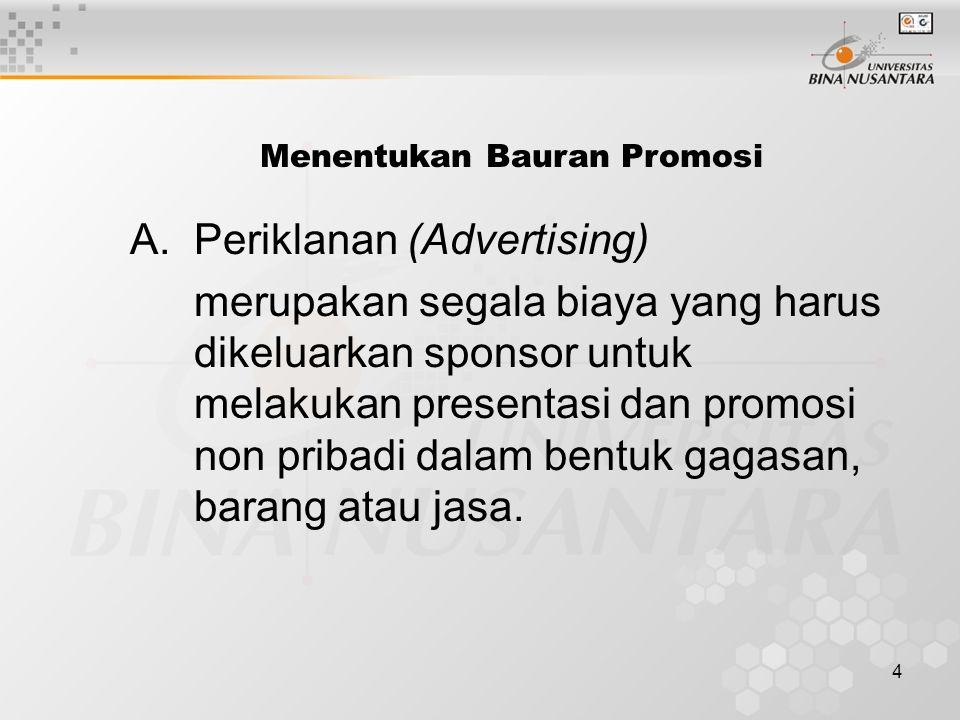 Menentukan Bauran Promosi