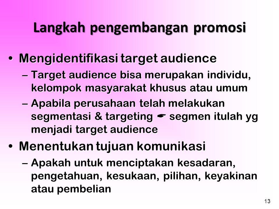 Langkah pengembangan promosi