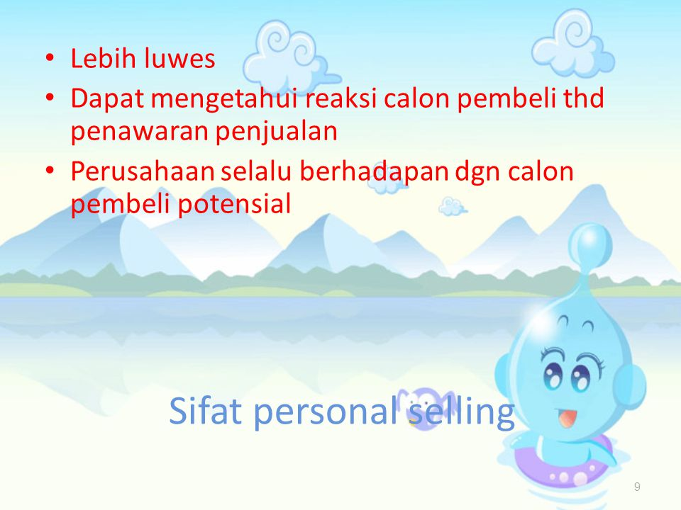 Sifat personal selling