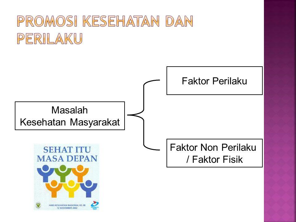 Promosi Kesehatan dan Perilaku