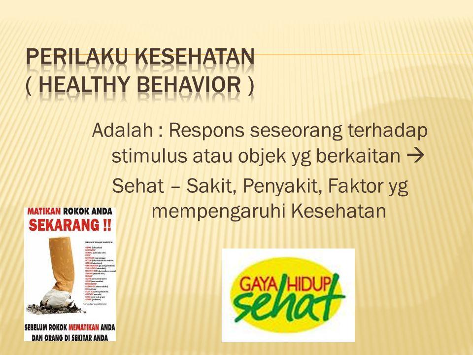 PERILAKU KESEHATAN ( Healthy Behavior )