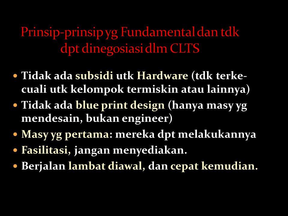 Prinsip-prinsip yg Fundamental dan tdk dpt dinegosiasi dlm CLTS
