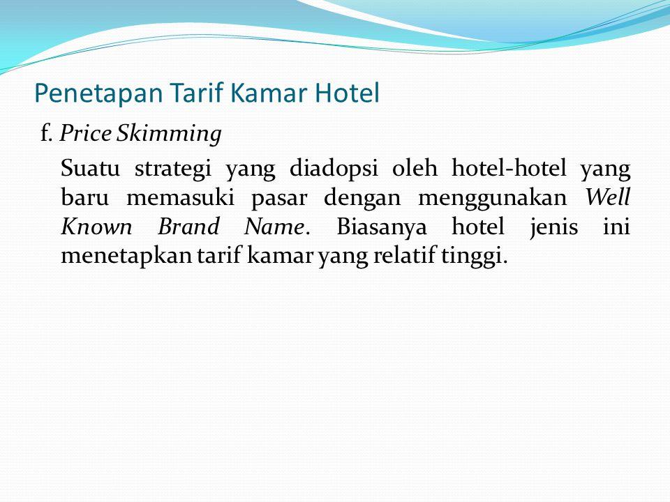 Penetapan Tarif Kamar Hotel