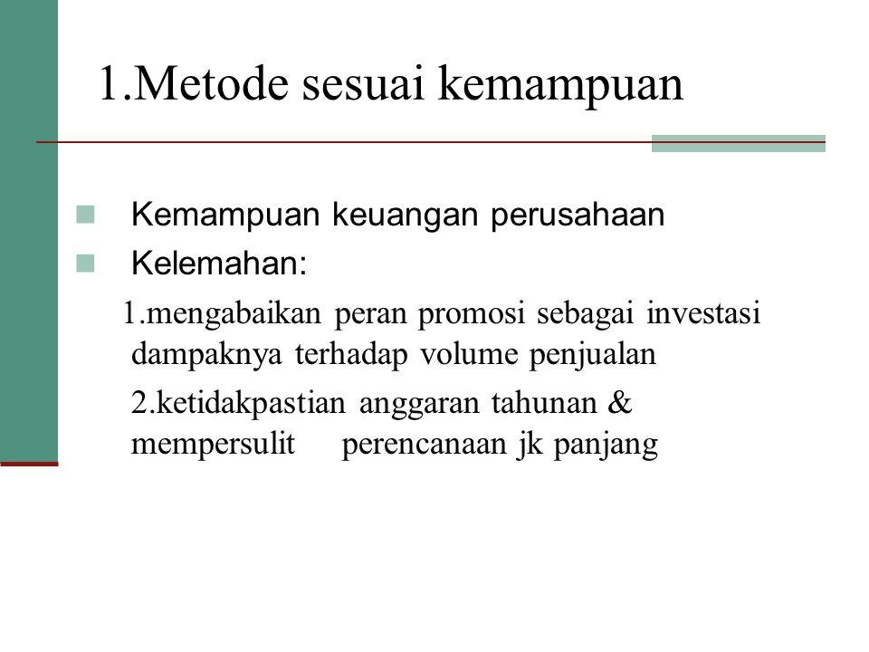 1.Metode sesuai kemampuan