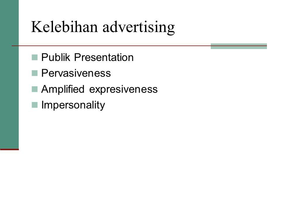 Kelebihan advertising