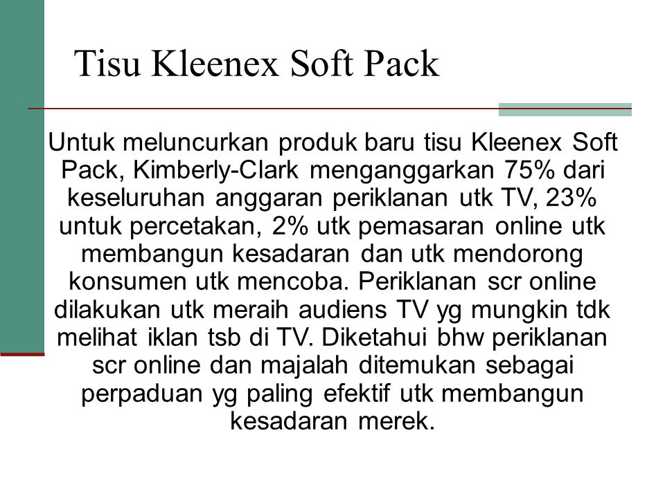 Tisu Kleenex Soft Pack