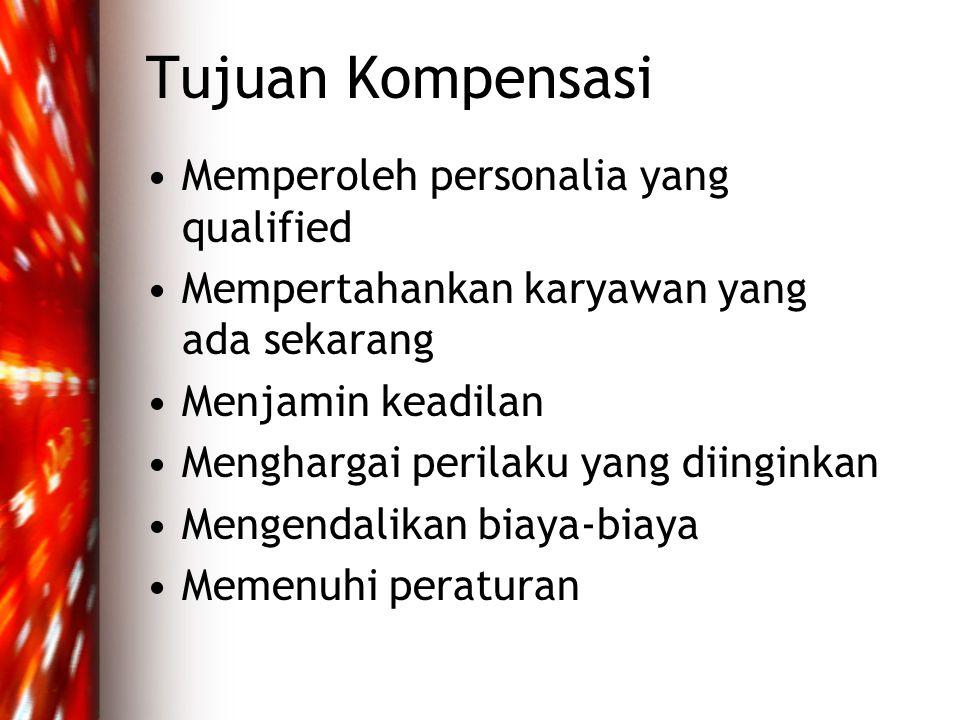 Tujuan Kompensasi Memperoleh personalia yang qualified