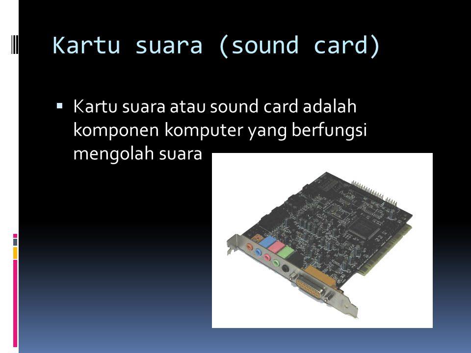 Kartu suara (sound card)
