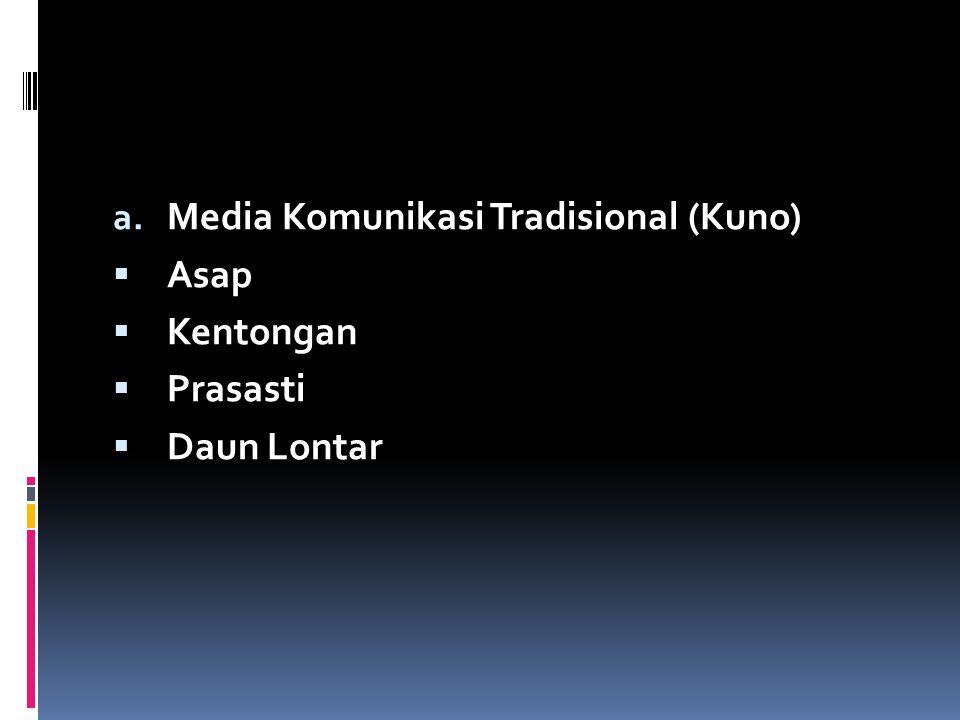 Media Komunikasi Tradisional (Kuno)
