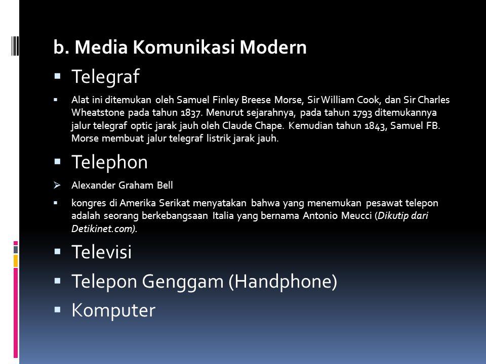 b. Media Komunikasi Modern Telegraf