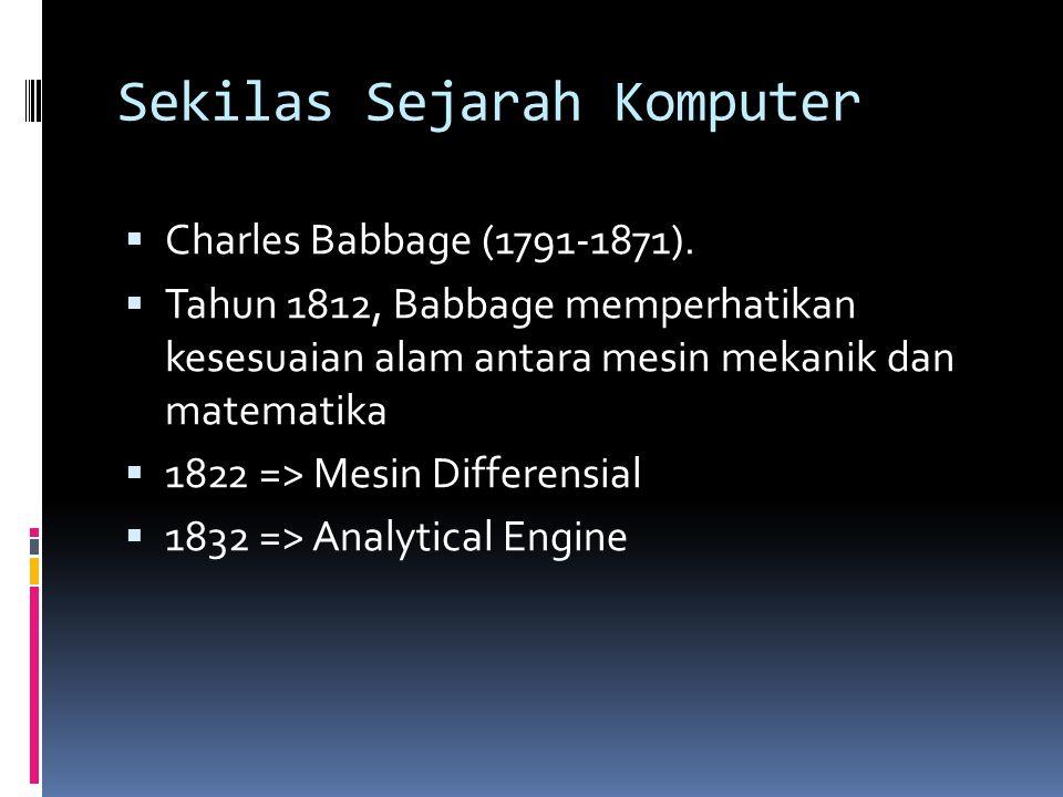 Sekilas Sejarah Komputer