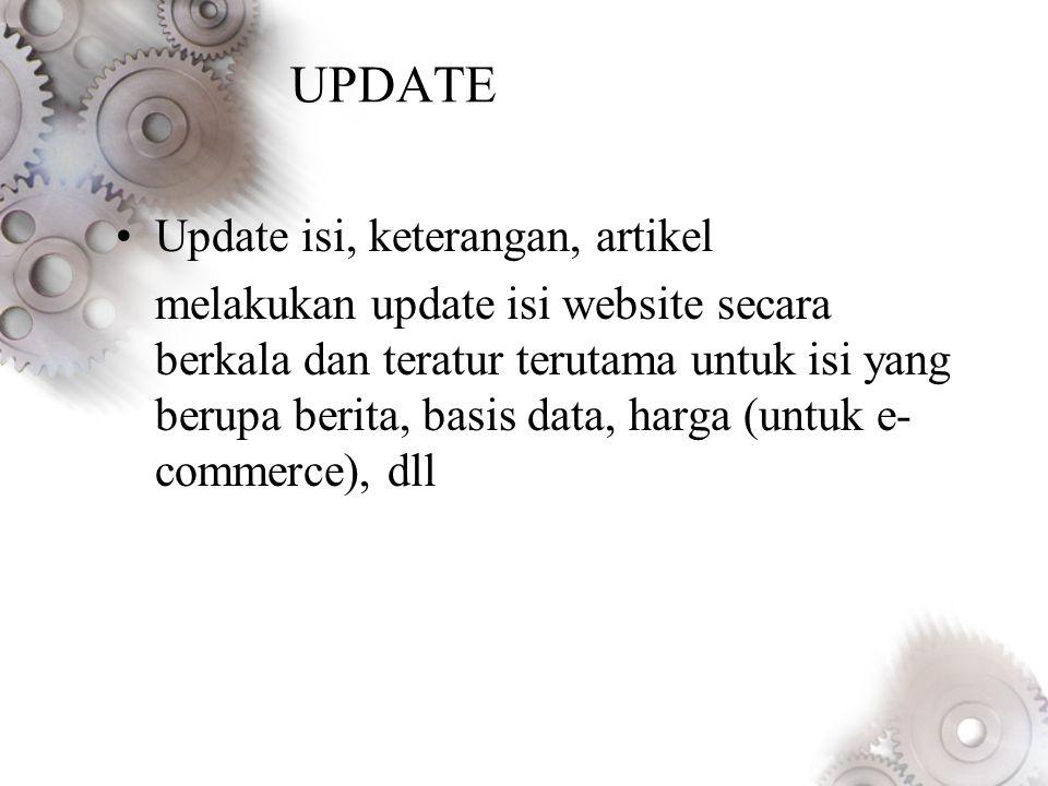 UPDATE Update isi, keterangan, artikel