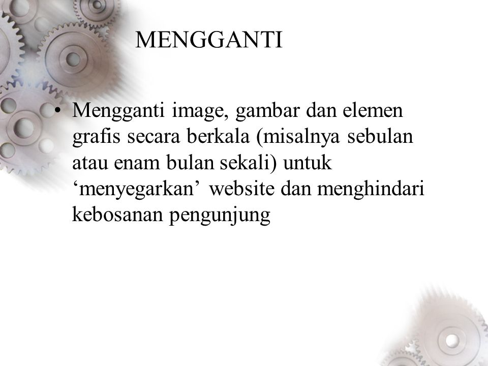 MENGGANTI
