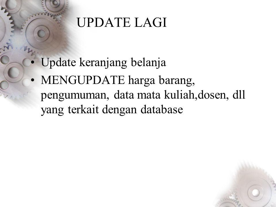 UPDATE LAGI Update keranjang belanja