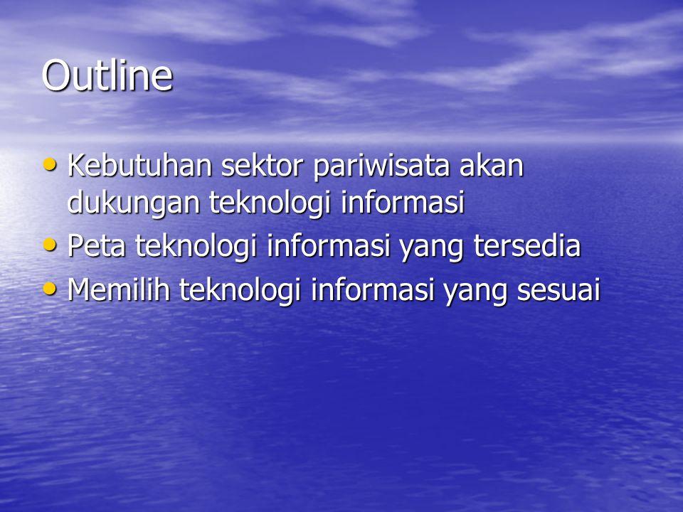 Outline Kebutuhan sektor pariwisata akan dukungan teknologi informasi