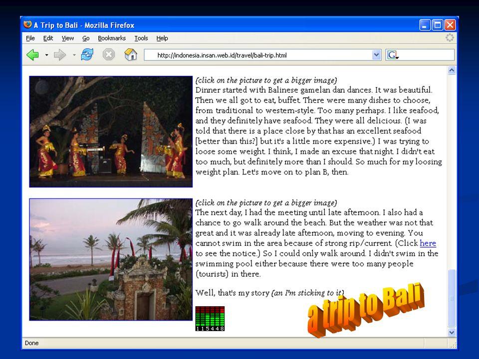 a trip to Bali