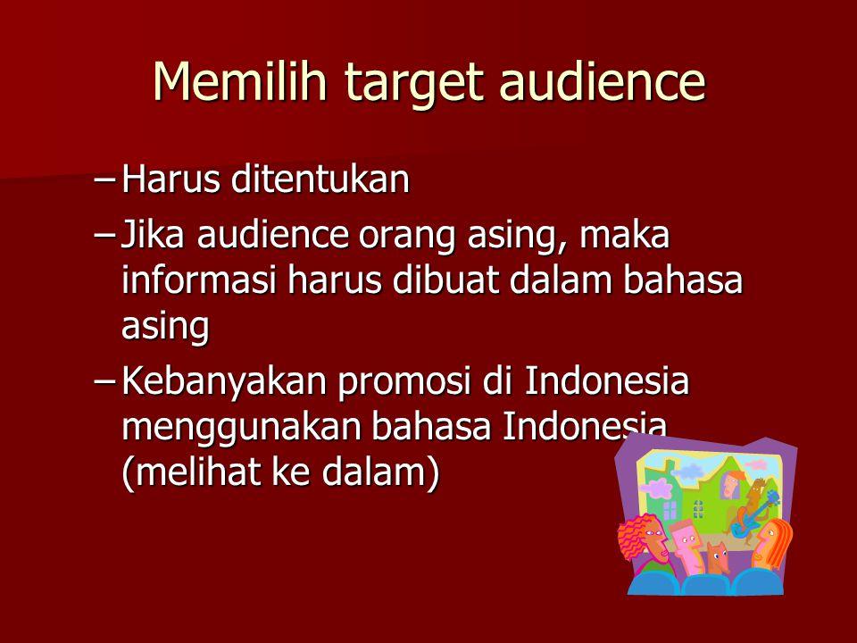 Memilih target audience