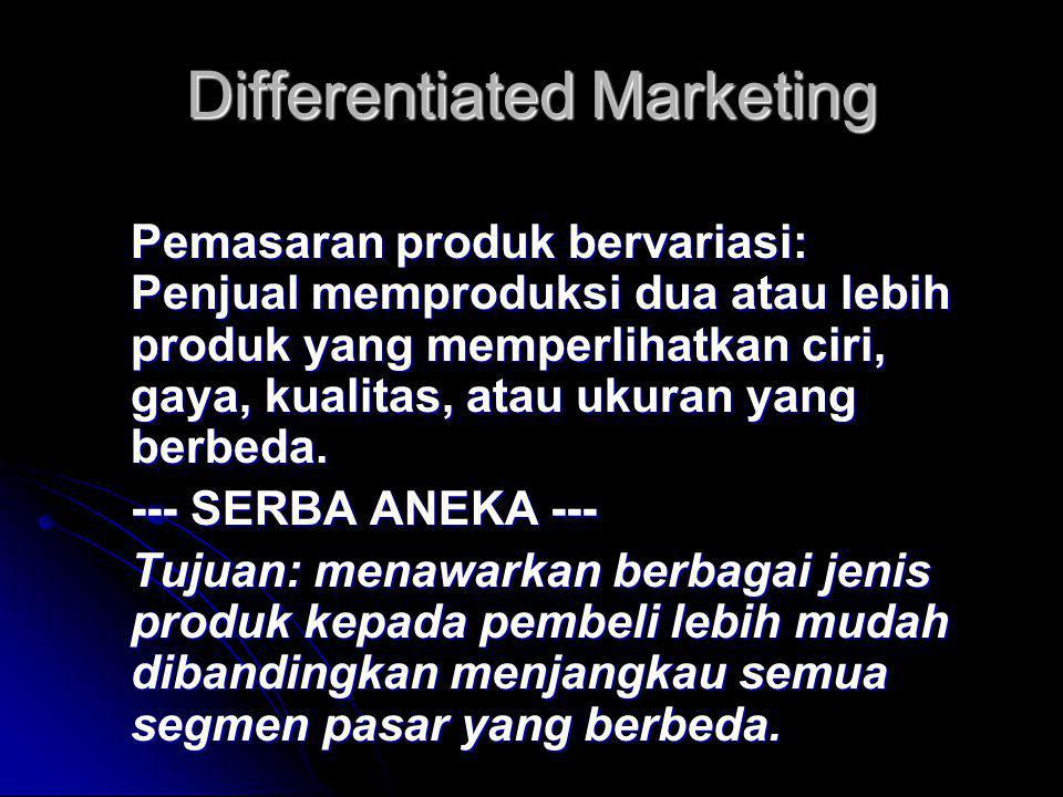 Differentiated Marketing