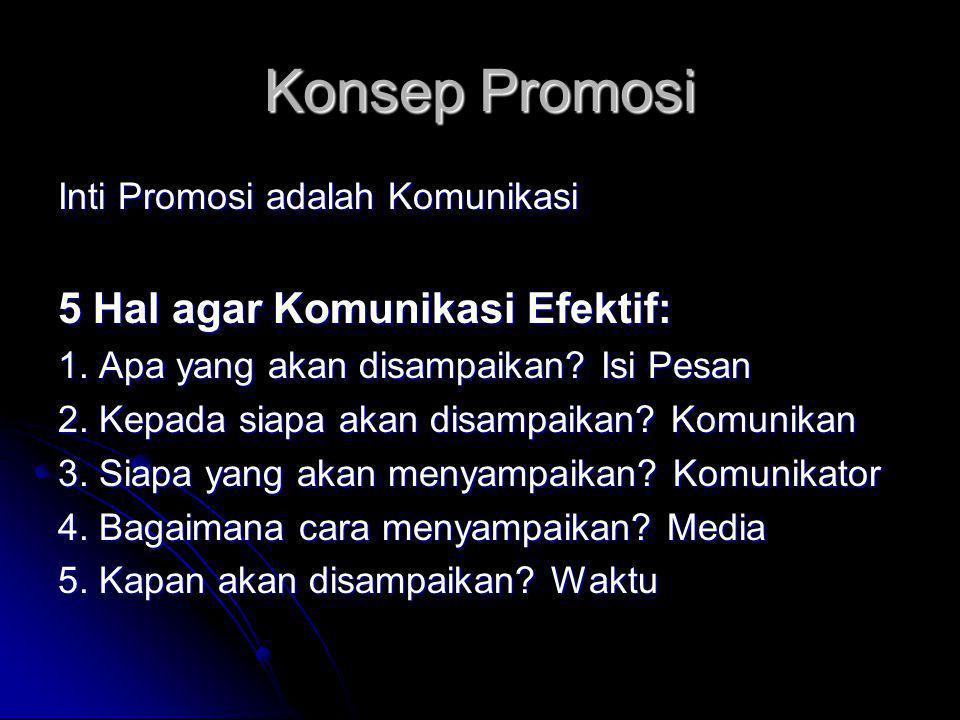 Konsep Promosi 5 Hal agar Komunikasi Efektif: