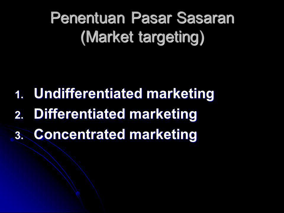 Penentuan Pasar Sasaran (Market targeting)