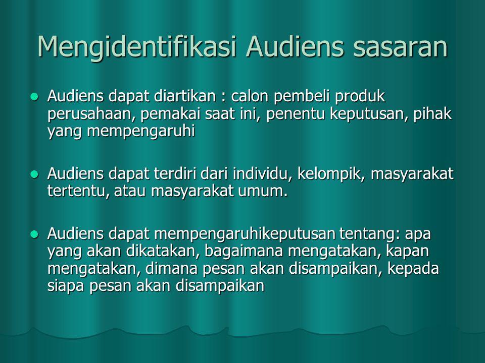 Mengidentifikasi Audiens sasaran