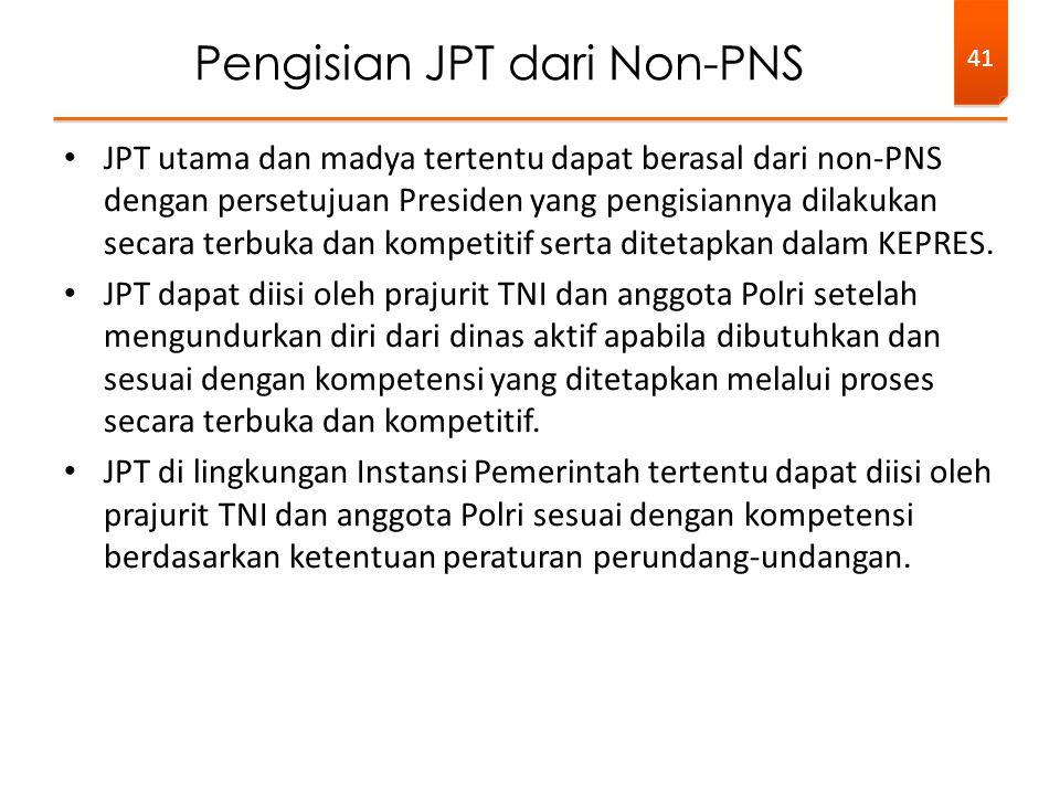 Pengisian JPT dari Non-PNS