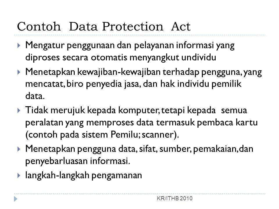 Contoh Data Protection Act