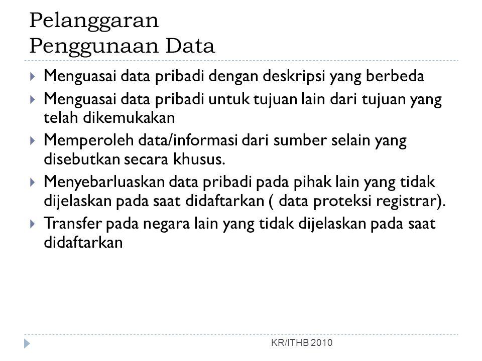 Pelanggaran Penggunaan Data