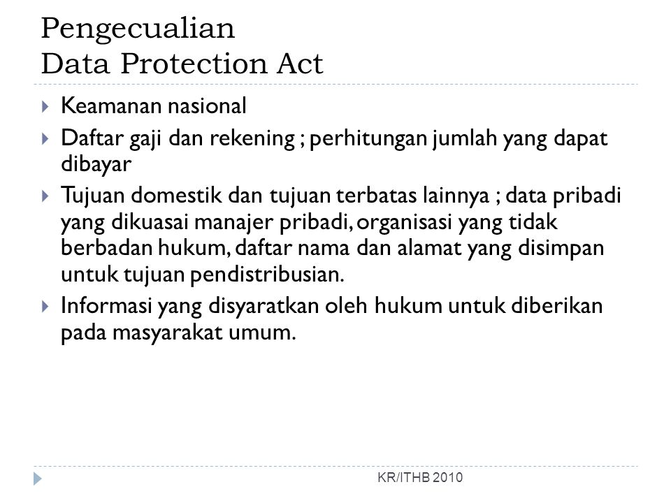 Pengecualian Data Protection Act