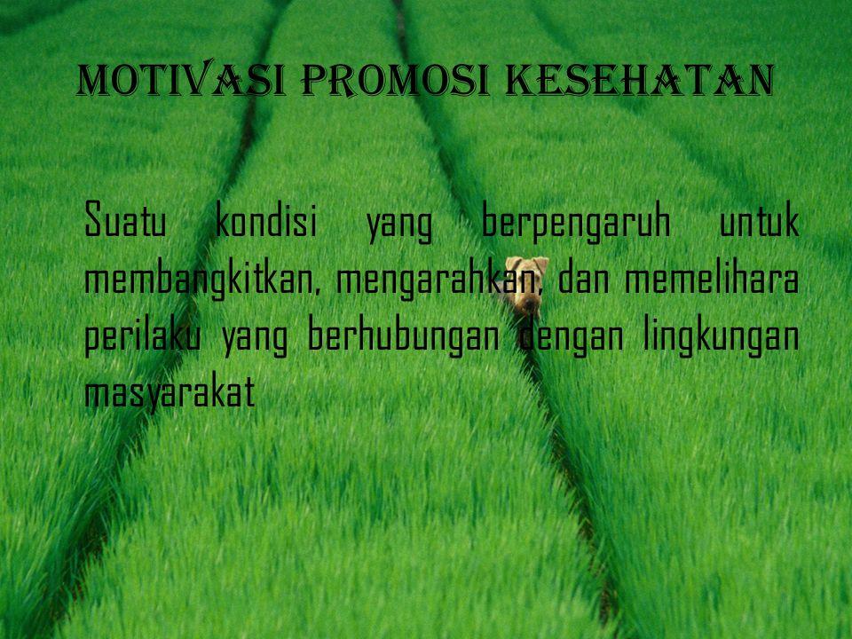 Motivasi promosi kesehatan