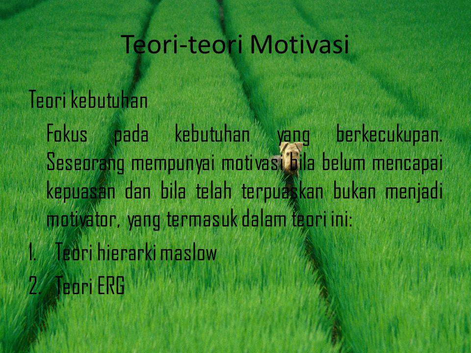 Teori-teori Motivasi Teori kebutuhan