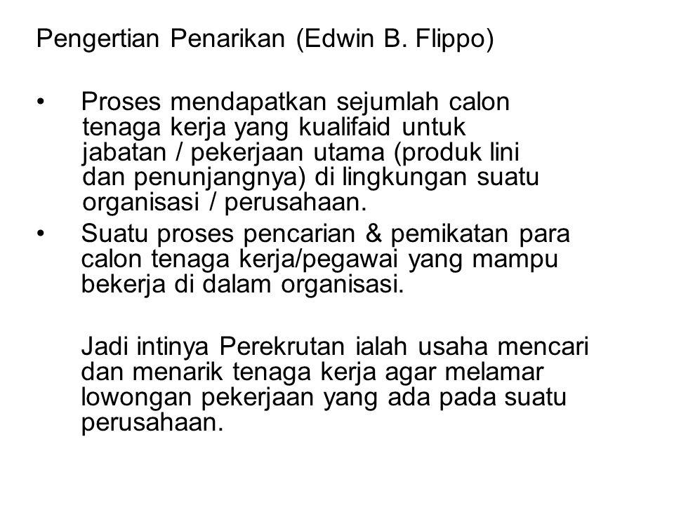 Pengertian Penarikan (Edwin B. Flippo)