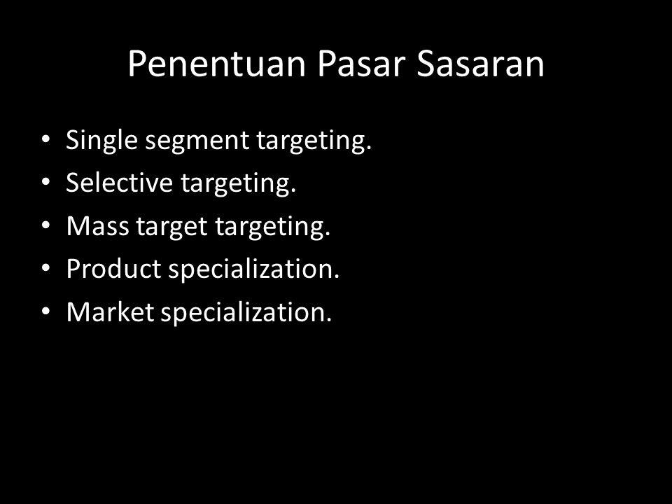 Penentuan Pasar Sasaran