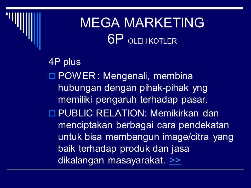 MEGA MARKETING 6P OLEH KOTLER