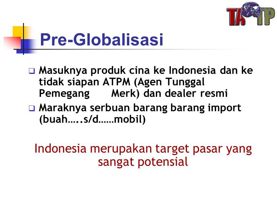 Indonesia merupakan target pasar yang sangat potensial