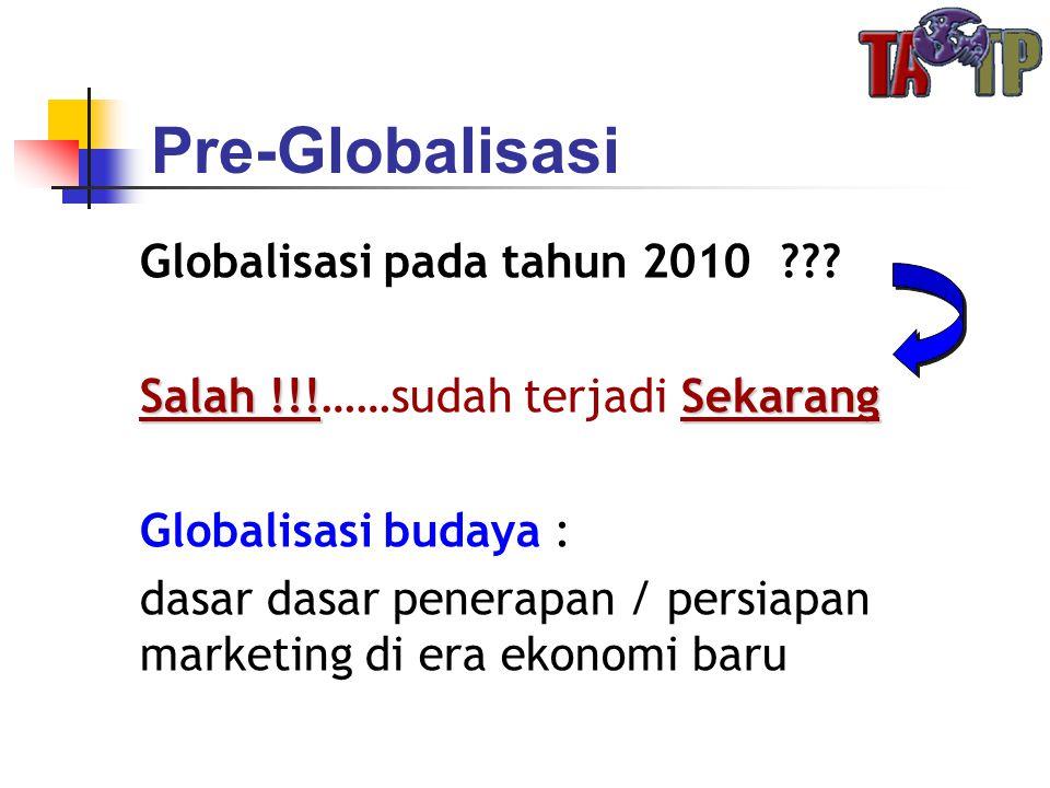 Pre-Globalisasi Globalisasi pada tahun 2010