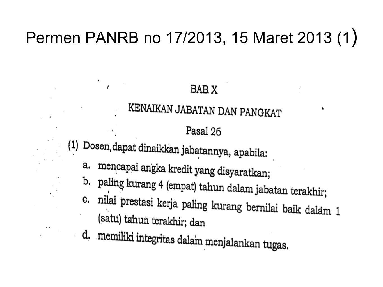 Permen PANRB no 17/2013, 15 Maret 2013 (1)