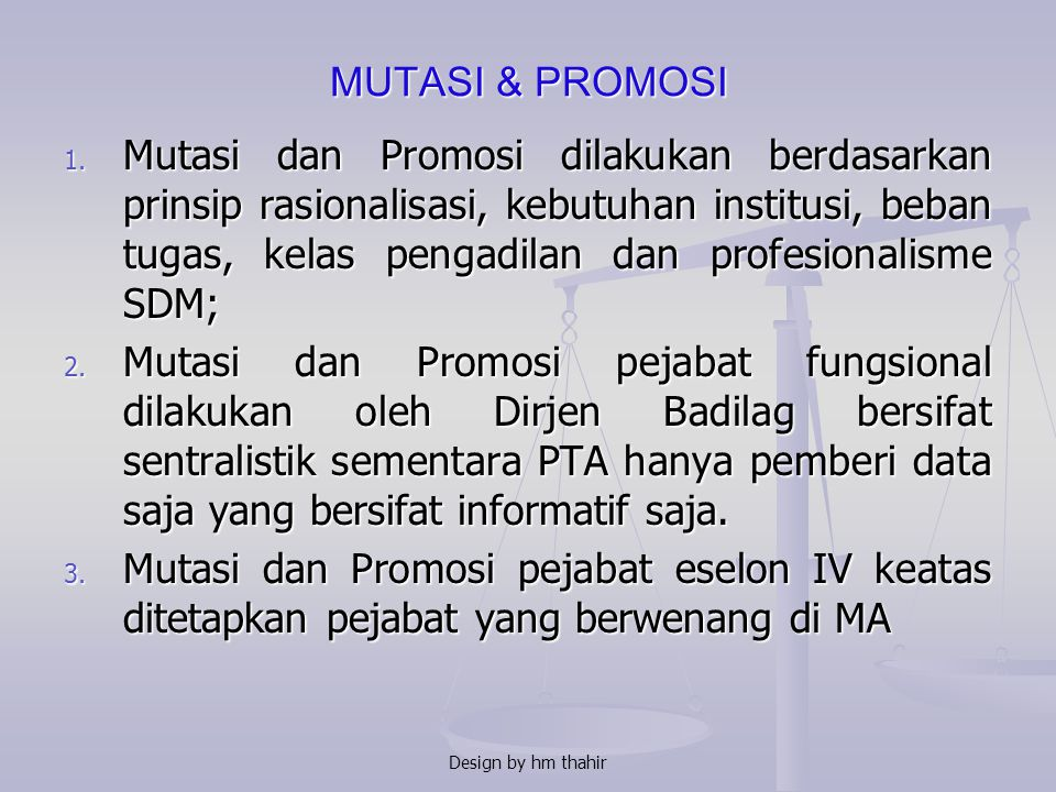 MUTASI & PROMOSI