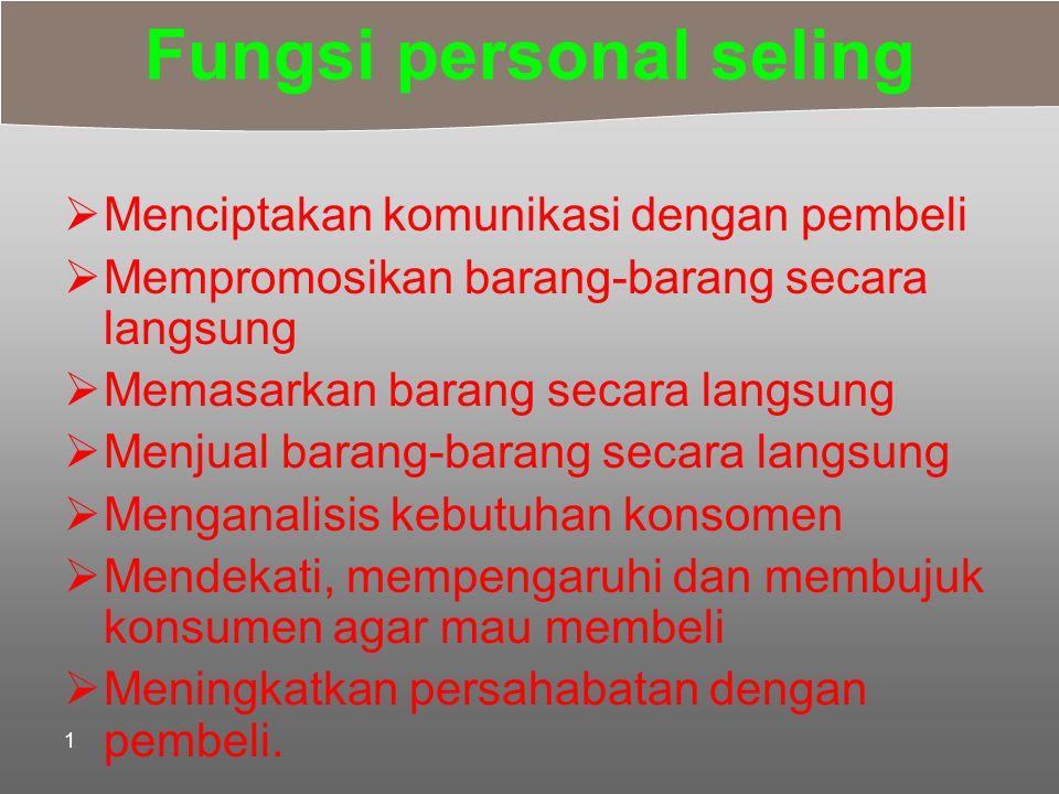 Fungsi personal seling