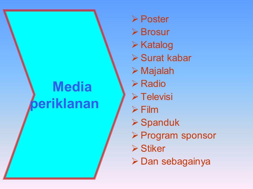Media periklanan Poster Brosur Katalog Surat kabar Majalah Radio