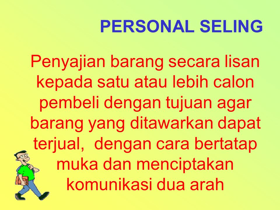 PERSONAL SELING