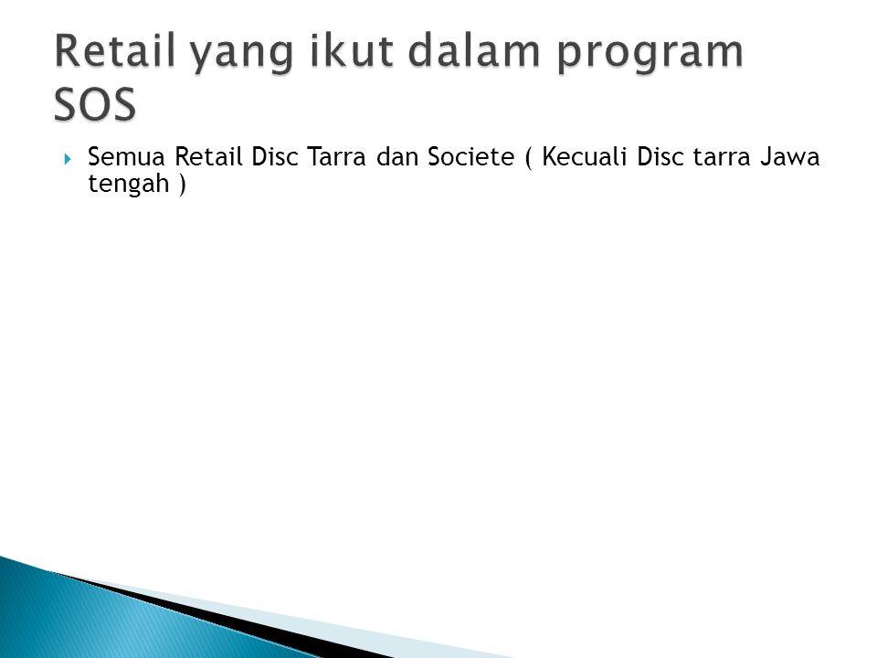 Retail yang ikut dalam program SOS